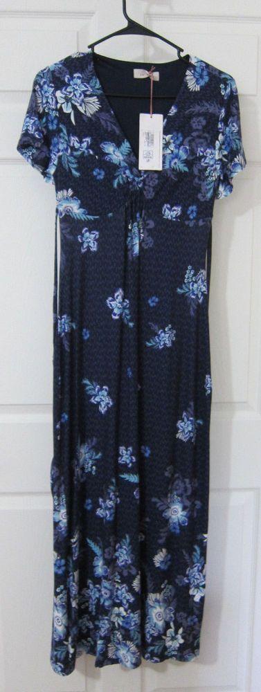 PER UNA Marks & Spencer Maxi Dress UK 8 Small Blue Floral NWT   #MarksandSpencer #Maxi