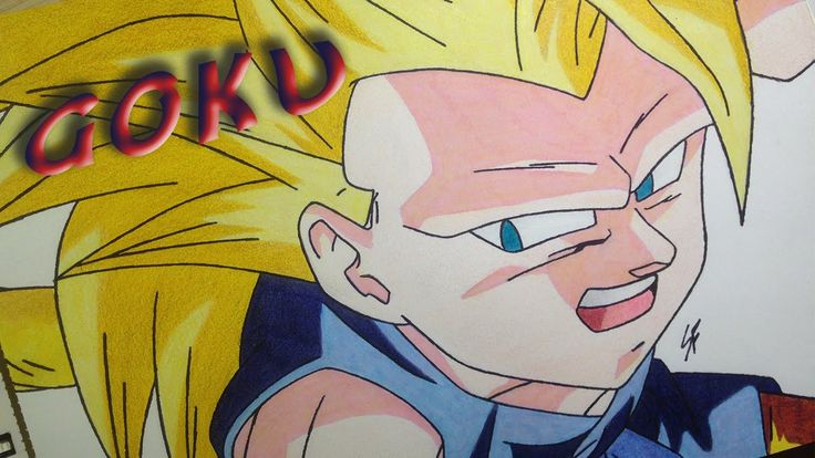 Drawing Goku Super Saiyan 3 (Dragon Ball GT Universe)