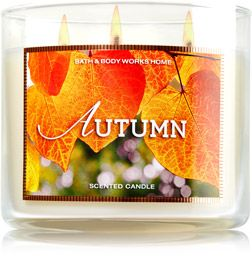Autumn 3-Wick Candle - Home Fragrance 1037181 - Bath & Body Works: