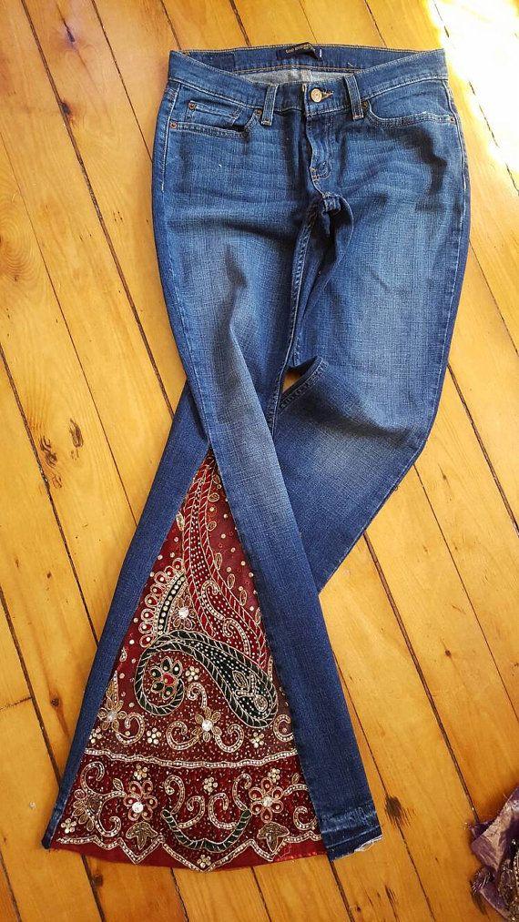 Bell bodems ter volgorde Hippie Kleding Muziek Festival Jeans