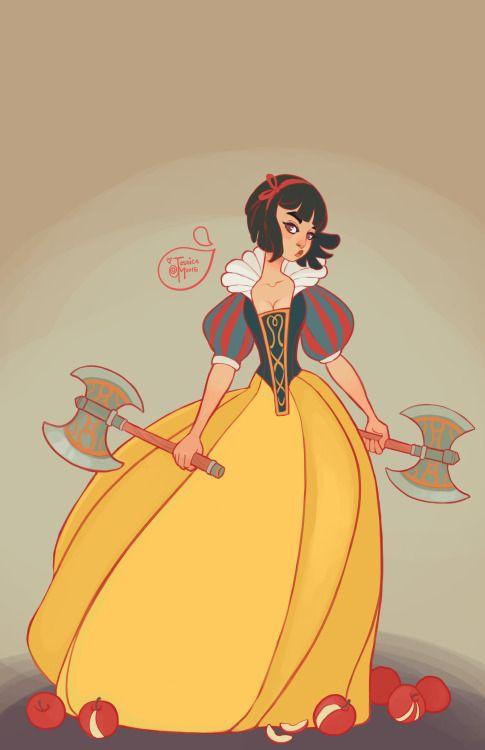 Disney Princesses as Warriors - inspired by Asha Greyjoy?