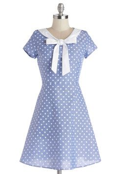 I think this is adorable, but I so could NOT pull it off. I'll pin it instead.   Excellent Rapport Dress, #ModCloth