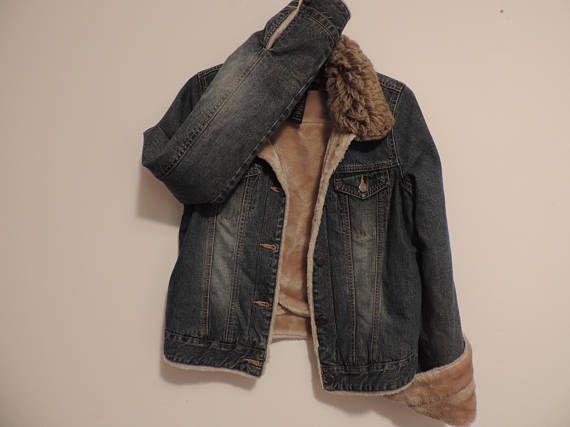 ced81d71d8 Abercrombie   Fitch Denim Jean Jacket Faux Fur Collar Lined ...