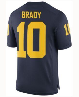 Nike Men's Tom Brady Michigan Wolverines Player Game Jersey - Blue XXL