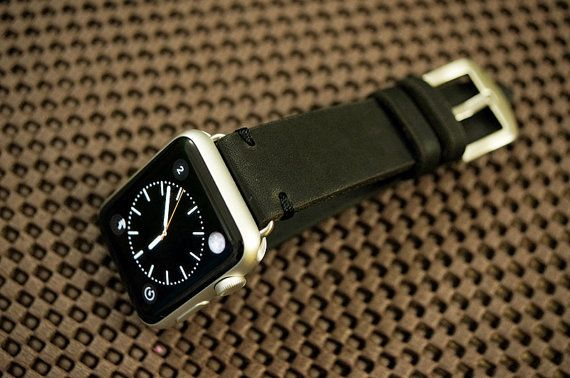 Custom Made Vintage Leather Strap incl. Lugs Adapter for Apple Watch (or Apple Watch Sport) 42mm or 38mm BF20-D123 incl Buckle