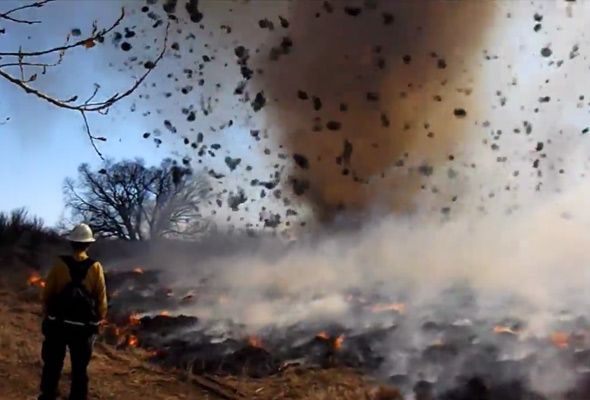 Fire Tornado Touches Down In Colorado
