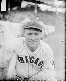 """Louis """"Hack"""" Wilson was born in Ellwood City, PA.He began playing with the Chicago Cubs in 1925. In 1930, Wilson hit 56 home runs, a National League record, and drove in 190 runs, a Major League record. He was inducted into The National Baseball Hall of Fame in 1979."""