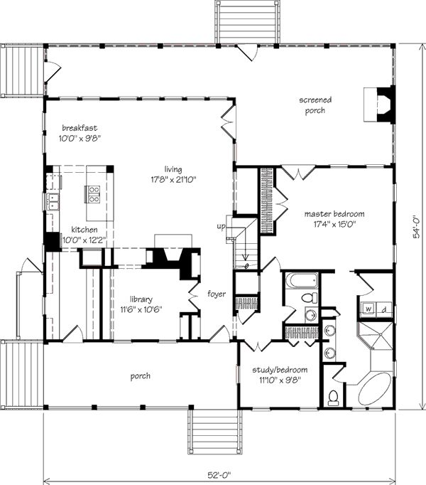 Southern living golf course house plans Golf course house plans