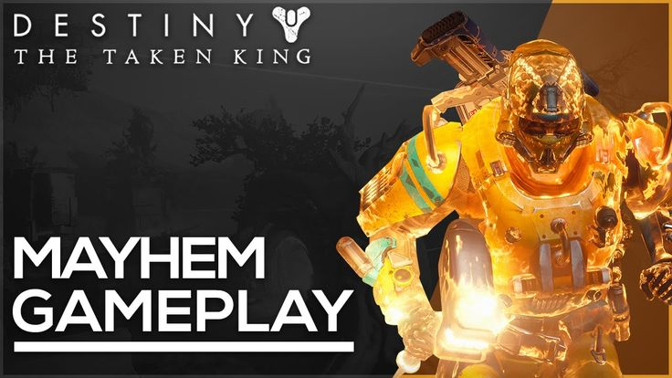 Destiny - The Taken King - Sunbreaker Gameplay! Mayhem Clash on Crossroads!