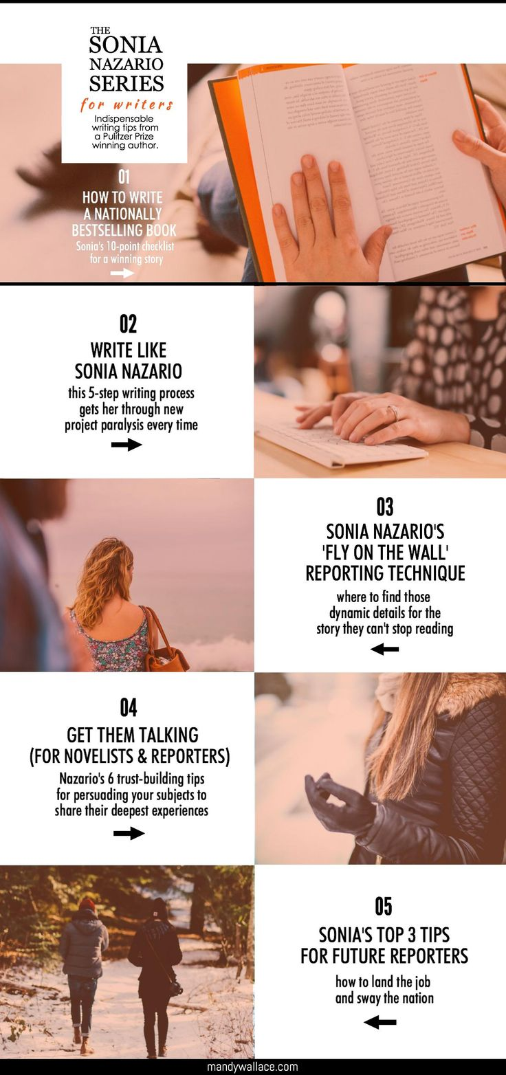 Writing tips for professional and future writers from Pulitzer Prize winning author and investigative journalist, Sonia Nazario.