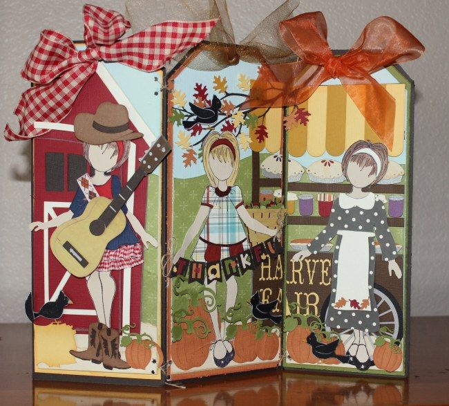 Really cute Fall Dolls! with Julia Nutting Paper Dolls and Silhouette Designs