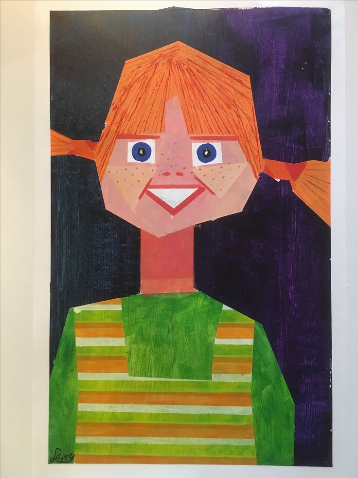 Pipi, jeugdheld met acrylverf en tape