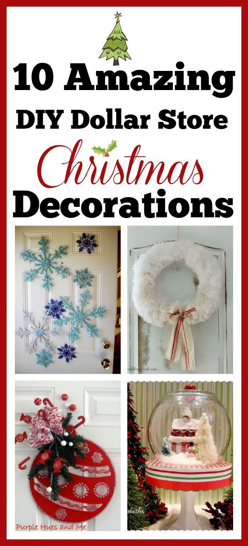 10 Diy Dollar Store Holiday Decorations Dollar Store Christmas Decorations Diy Holiday Decor Dollar Store Christmas