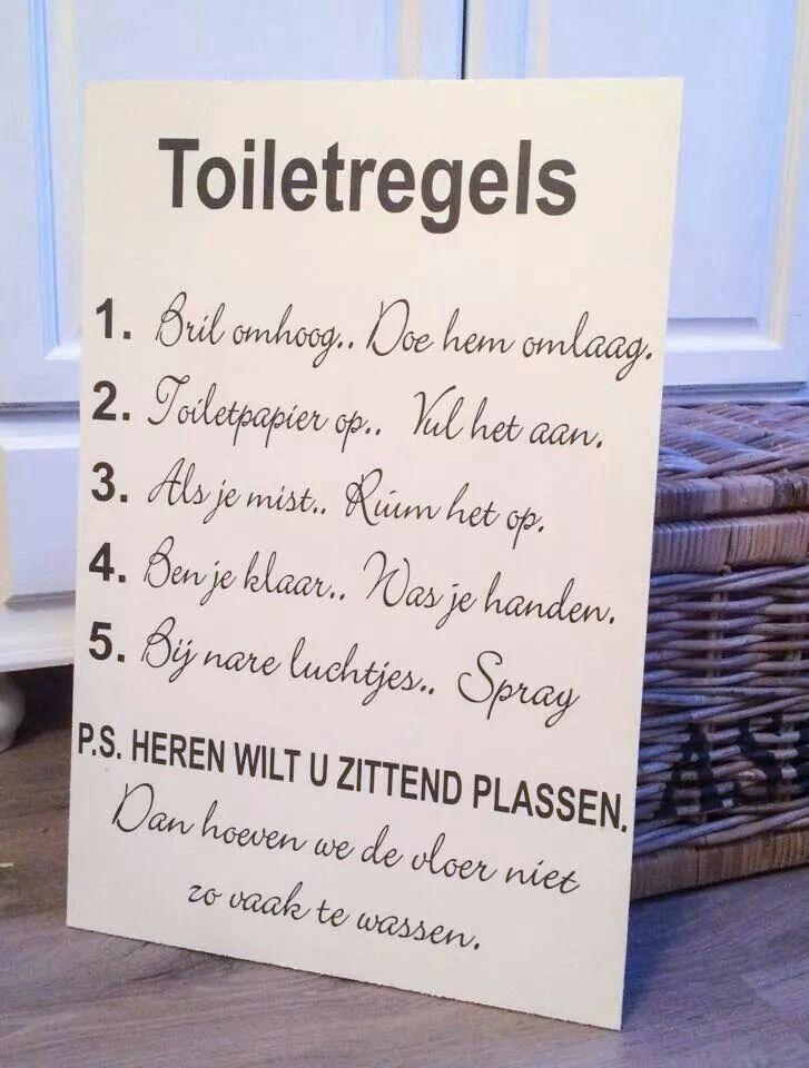 Toilet regels....