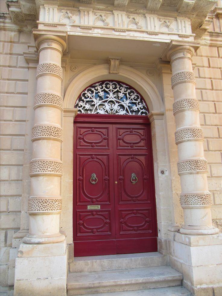 Impressive door at Medina, Malta