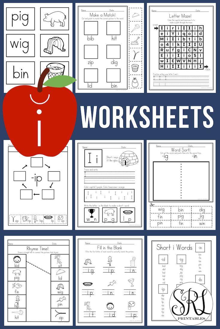 Short I Worksheets For Preschool Kindergarten First Grade Phonics Focus On Cvc Words With Th Medial Sounds Worksheets Short I Worksheets First Grade Phonics