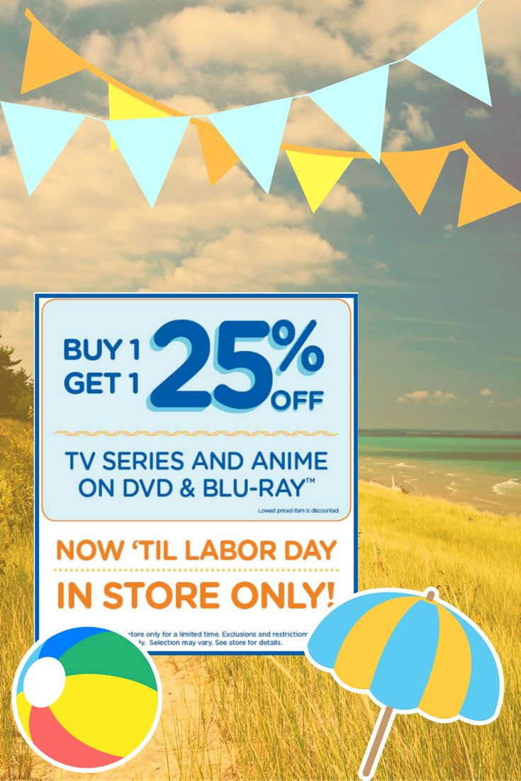 Looking to catch up on all of your favorite TV shows? Now through Labor Day check out these in-store sales! #summersale