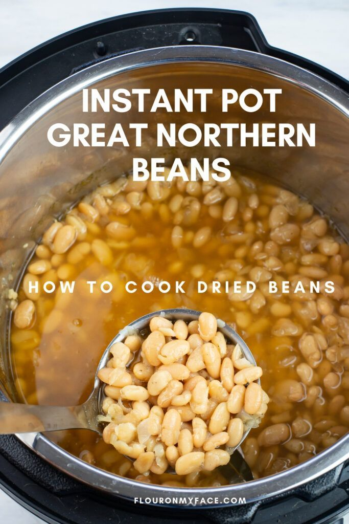 Instant Pot Great Northern Beans Recipe Great Northern Beans Northern Beans Cooking Dried Beans