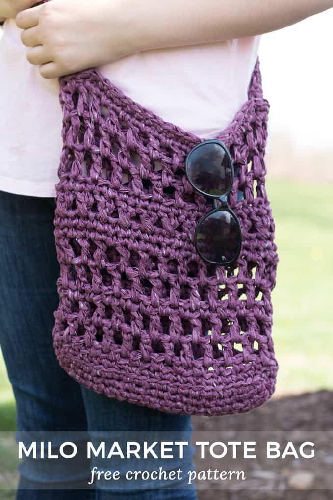 Milo Crochet Market Tote Bag Crochet Bag Patterns Pinterest
