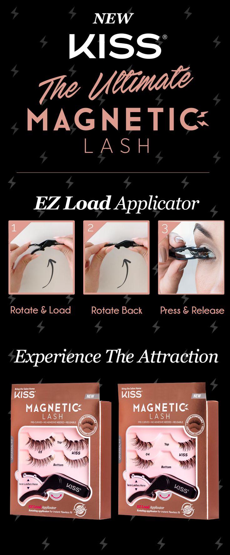 af202040c15 KISS Ultimate Magnetic Lash: the easiest lash you'll ever apply. Now at:  Walgreens, CVS, Walmart & Ulta. #KISSMagneticLash #BeKISSConfident