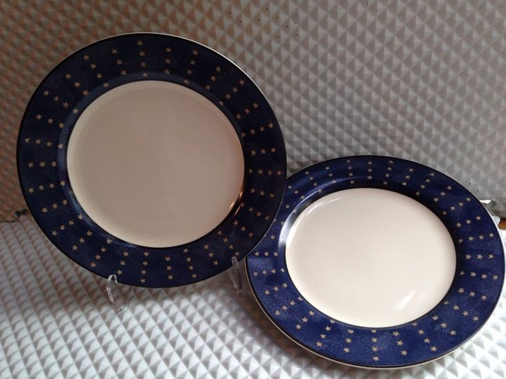 New 2 Coventry Genuine Stoneware 'Liberty' 13 Colonies Flag Salad Plates | eBay