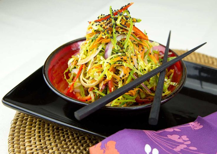 Colorful Asian Slaw / @DJ Foodie / DJFoodie.com