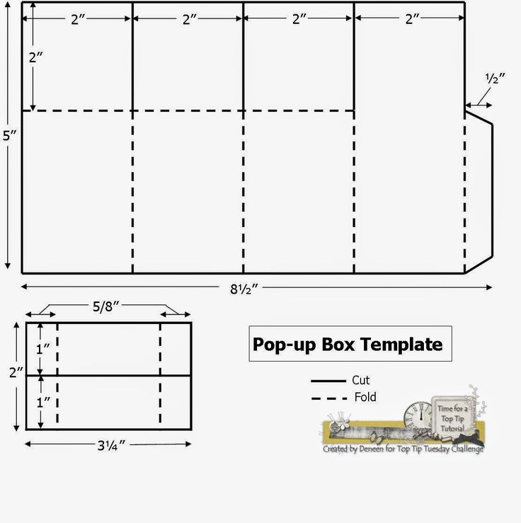 A Path of Paper: Top Tip Tuesday Numbers Challenge and Pop Up Box Template