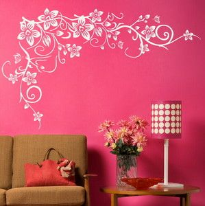 Giant Flower Wall Decals | FLOWER BUTTERFLY Wall Art Stickers Decal