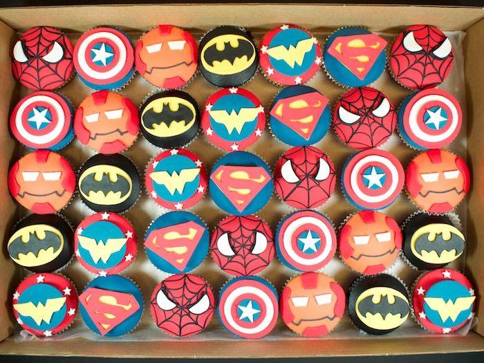 Superhero Cupcakes | Superhero cupcakes Super Cool!! haha I made a funny... no?.. ok
