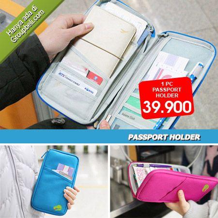 Passport Holder dompet multi fungsi yang dapat menyimpan berbagai macam keperluan saat perjalanan hanya Rp 39.900 http://groupbeli.com/view.php?id=234
