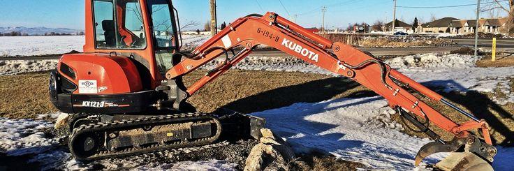 Kubota Excavator in the Snow