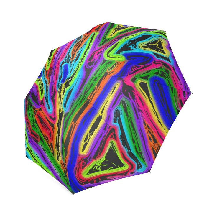 Neon Black Magic Art - 9941 Foldable Umbrella