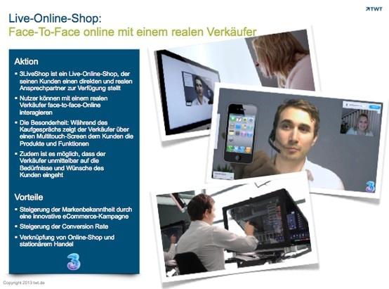 Face-To-Face online mit einem realen Verkäufer
