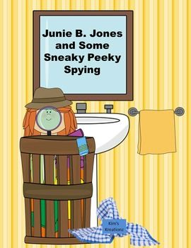 Junie B. Jones and Some Sneaky Peeky Spying packet has comprehension questions for each chapter.  In addition, there are writing about an illustration, synonyms, alphabetical order, cause and effect, story map, vocabulary matching and word search, and vocabulary matching cards with definitions.