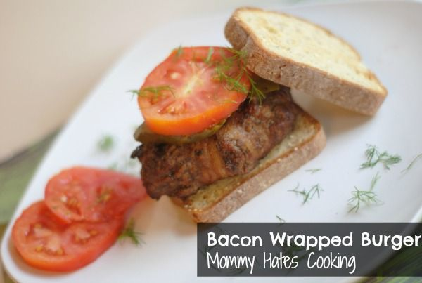 Bacon Wrapped Burgers by @Kristy Still (Mommy Hates Cooking) #GrillBeef