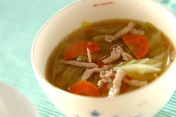 キャベツの塩麹スープ