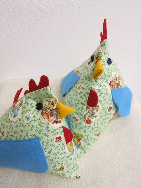 Hen shaped decorative pillow /summer home by YaGrashka on Etsy