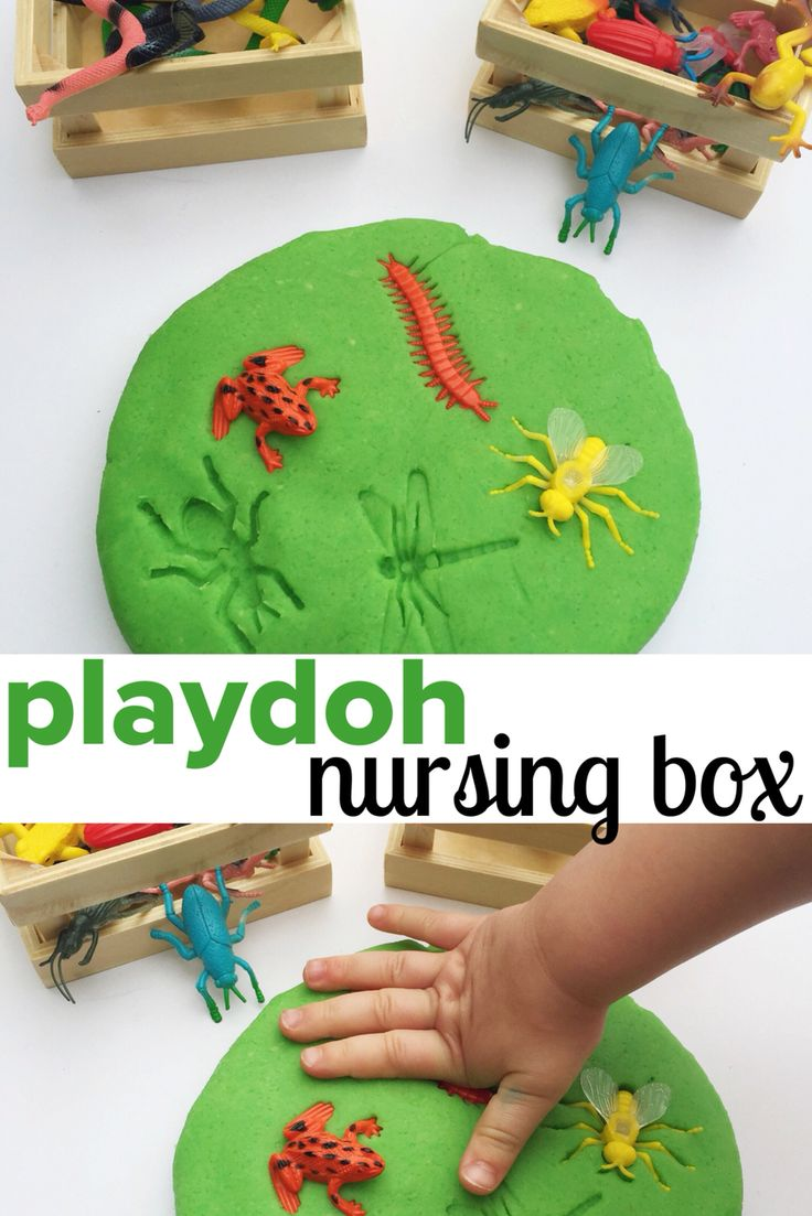 BUGS | PLAYDOH NURSING BOX | Keep toddlers/preschoolers occupied whilst feeding a new baby | www.acraftyliving.com