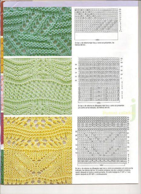 puntos calados,,, knitting,,, trico