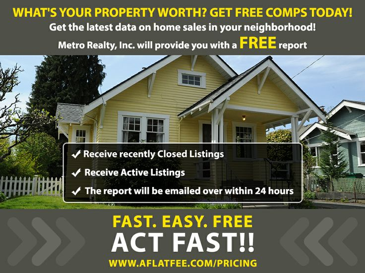 What's your property worth? Get FREE comps today! FAST. EASY. FREE.