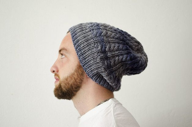 via en.dawanda.com Newsboy Caps – slouchy man cable beanie – a unique product by testecalde on DaWanda