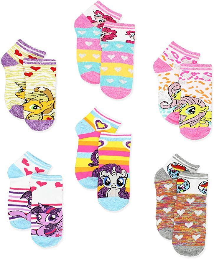 Hasbro Girls Big Pony 5 Pack No Show Socks