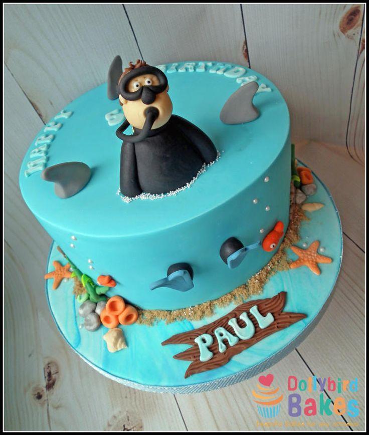 Scuba themed cake - Cake by Dollybird Bakes #scuba #diver #cake