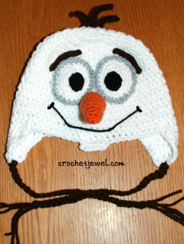 Kid's Favorite Snowman Hat similar to Olaf  Crochet Hat Free Pattern