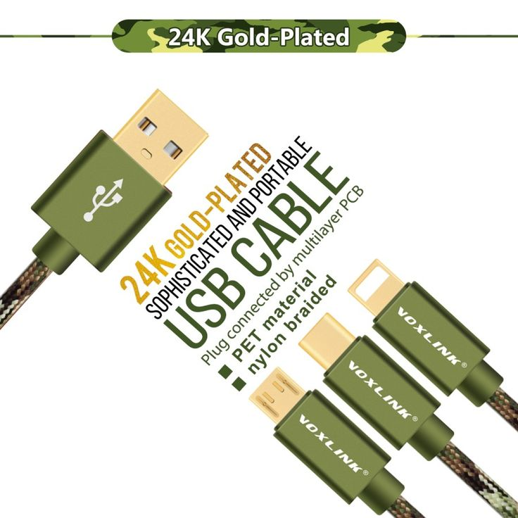 VOXLINK Nylon 1m/2m/3m Micro USB Cable Type C 8 Pin Fast Charging USB Cable For iPhone 7 6s 5s Samsung Huawei HTC Sony Xiaomi – Shop Now! – WorldOfTablet.com