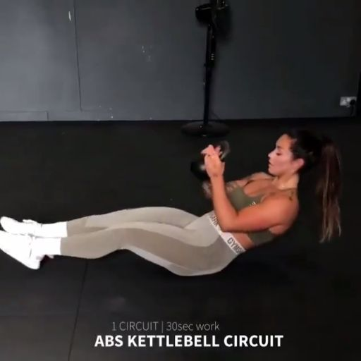 Hit those abs with Hanna (Hanna Öberg) with her kettlebell workout. Try these k…