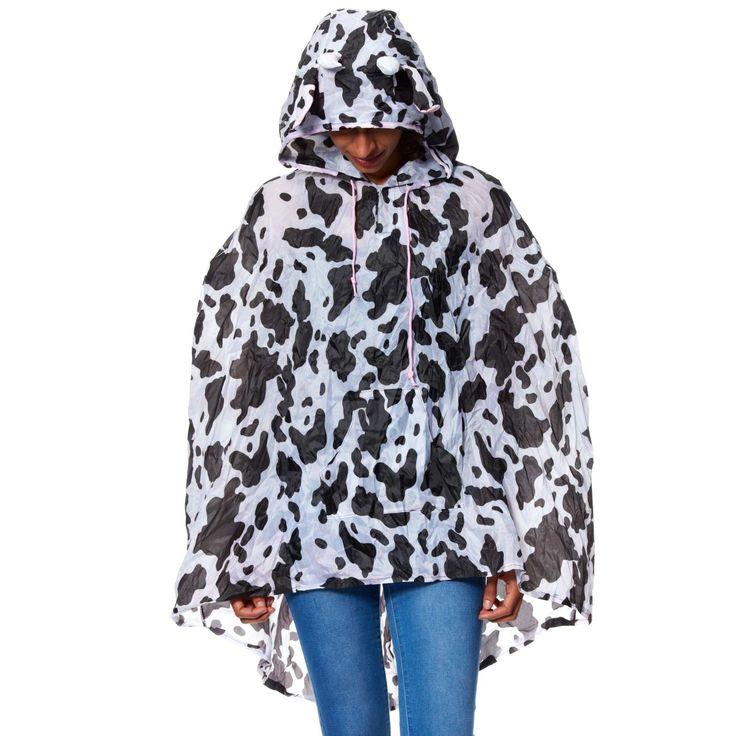 Poncho étanche mixte vache                             vache Femme
