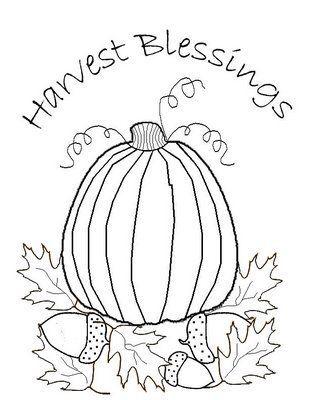 * Freebie * Blessings récolte Stitchery