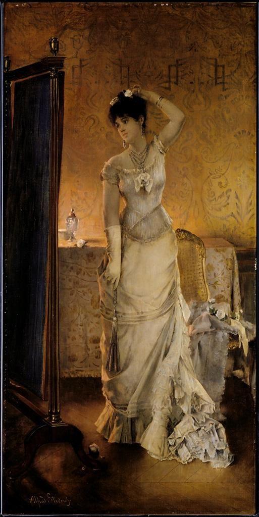 Alfred Stevens Belgian (1823-1906) Winter c. 1878 Sterling and Francine Clark Art Institute