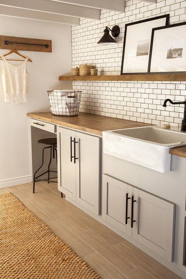 cool Idée relooking cuisine - Au sous-sol, ma buanderie comme une pièce de vie en plus....